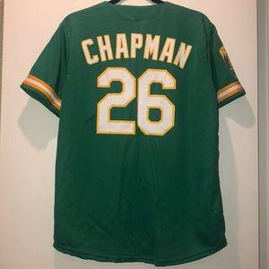 match up Shirts - Oakland A's Chapman jersey